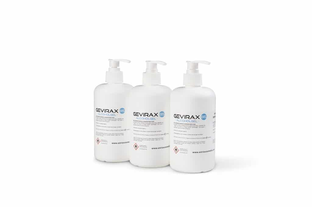Alcoholgel 85 Gevirax 500ml x3