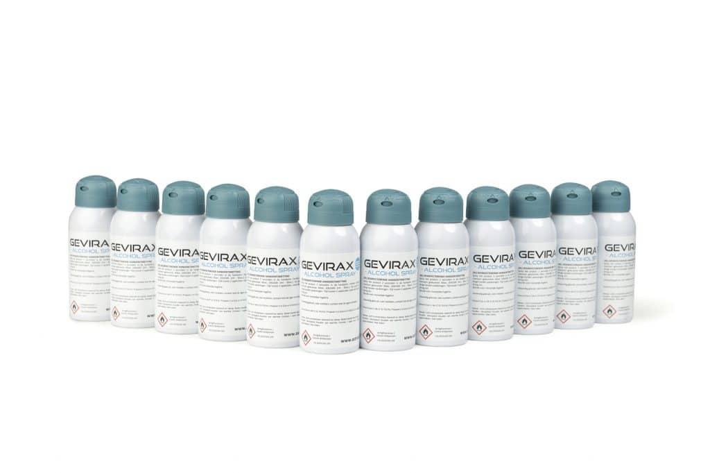 Alcoholspray Gevirax 100ml x12