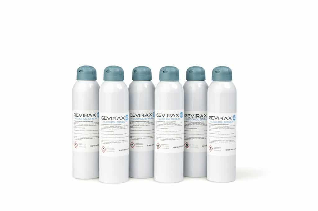 Alcohol Spray Gevirax 250ml x6