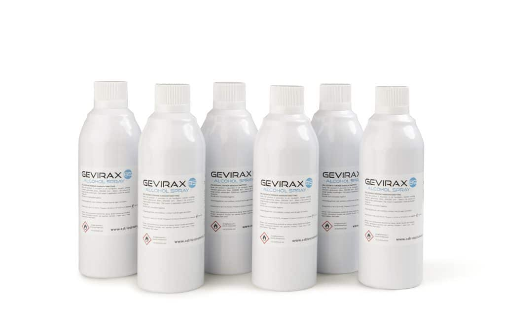 Alcoholspray Gevirax Navulling Dispenser 400ml x6